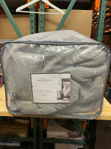 Threshold Waffle Weave Comforter Set, 100% Cotton, King Size, Machine Washable,