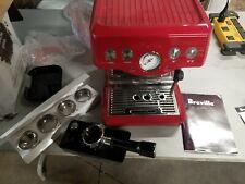 Breville Espresso  Cappucino Machine Infuser Cranberry Red  BES840CBXL 110 Volts