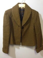 Jheri Richards Green Jacket 1 Button Front Size 2