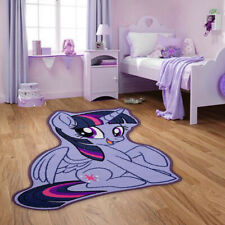 Kids Girls My Little Pony Purple Bedroom Playroom Rug Shaped Rubber Non Slip