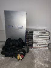 Playstation 2 PS2 Silver Console & 10 Games Bundle