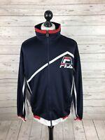 FILA Retro Track Top/Jacket - XL - Navy - Great Condition - Men's