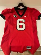 Nike UGA Georgia Team-Issued Game-Worn Stitched Jersey #6 Size 44 w/ SEC Patch