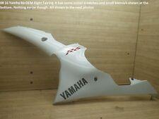 08 16 Yamaha R6 OEM WHITE LEFT MID FAIRING cowl side ferring plastic 2009