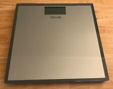 Taylor Tempered Glass Digital Bath Scale Instant Read Gray 400lbs 7558