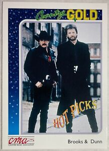 1992 STERLING CARDS BROOKS & DUNN #2 COUNTRY MUSIC ASSOCIATION NM COUNTRY GOLD