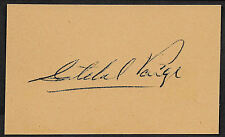 Satchel Paige Autograph Reprint On Genuine Original Period 1950s 3x5 Card