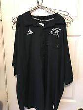 Adidas Team Button Down Shirt-XXL - Football - Black - Akron - Jason Taylor -NEW