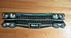 """1950s Cadillac Front End Grill O'Reilly Promotional NEW Metal Sign 35.5"""" x 8.5"""""""