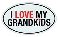 Oval Magnet - I Love My Grandkids - Grandchildren, Grand Kids