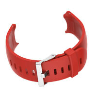 Silicone Wrist Strap Band & Metal Buckle For Garmin Approach S3 Watch Red