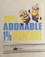 $2 POST! DIY Despicable Me Minion Decal Patch - Hot Iron-on Transfer
