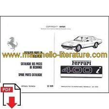 1979 Ferrari 400i spare parts catalogue 179/79 PDF (it/fr/uk)