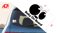 BABY ON BOARD EYES Car Sticker Vinyl Window Decal Safety Sign Suv Truck #287