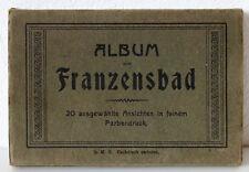 """AK-Album Franzensbad """"20 ausgewählte Ansichten in feinem Farbendruck"""", um 1925"""