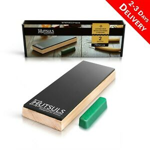HUTSULS Leather Strop Block Kit Stropping Green Compound Honing Sharpening Knife