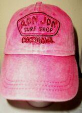 NWOT RON JON SURF SHOP COZUMEL Unisex Red Stone Wash Adjustable Baseball Cap/Hat