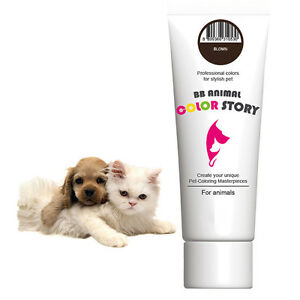 Dog Hair Dye Hair Bleach Hair Coloring Stylish Pet Brown 50ml Professional