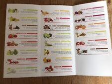 Flyer / Dépliant Fruits & Légumes Exotiques COMEXA