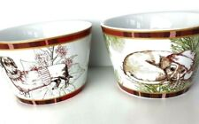 222 Fifth Wexford Soup Cereal Bowl Puppies Christmas Theme 4X3 Inches