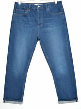 Topshop Stonewashed Straight Leg High Rise Jeans for Women