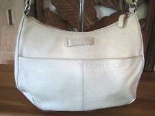 FOSSIL Off White Leather Shoulder Handbag - VGUC Genuine Classic 75082