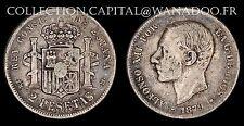 Espagne 2 Pesetas 1879 Madrid (18-79)