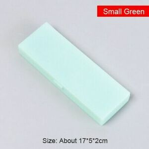 Transparent Pencil Case Plastic Storage Pens Office School Stationery Gifts Supp