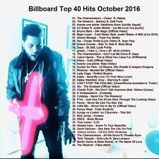 Pop/Dance Promo DVD, Billboard Top 40 Pop/Dance Hits Oct 2016! NEW ONLY on Ebay!