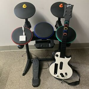 Nintendo Wii Band Hero Wireless Guitar And Drums Bundle