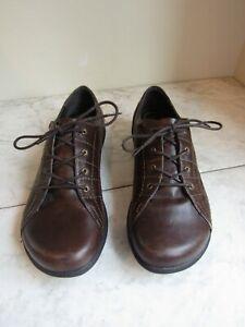 NWOT Dansko Emma Oxford Loafer Shoe Lace Up Sneaker Women's Brown Leather 40