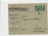 germany bavaria  1911 illustrated stamps cover ref r13249