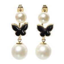 3D Ohrringe Schmetterling Perlen Ohrstecker front to back earrings