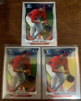 (3 Card) 2014 Bowman Chrome Draft Rafael Devers Rookie #37 Lot Boston Red Sox