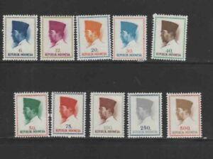 INDONESIA #616-625 1964 PRES. SUKARNO MINT VF NH O.G aa