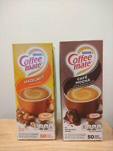 2x Nestle Coffee Mate Hazelnut & Cafe Mocha Creamer (50count) Import From USA