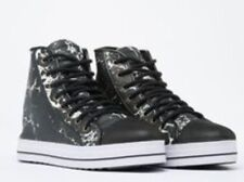 NEW Shakuhachi Marble Leather High Top Sneakers Size 40