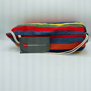 NWT Best Choice Products Brazilian Style Double Hammock With Carry Bag Rainbow
