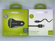 PureGear Quick Charge Car Charger + 4FT Micro USB Cable Combo