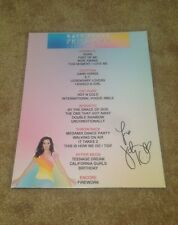 KATY PERRY PRISMATIC WORLD TOUR 2014 SIGNED AUTOGRAPH SETLIST LAMINATE VIP! RARE