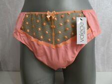 String mit Spitze in Orange Gr. XXL französische Mode
