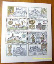 EBS Czechoslovakia 1982 - Treasures of Křivoklát and Nitra - Block 50 MNH**
