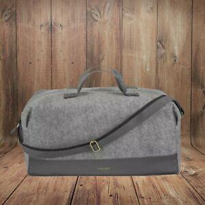 Brand New Azzaro Grey Holdall Duffle Bag Adjustable Straps Large Overnight Gym!