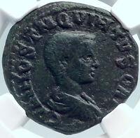 HOSTILIAN Authentic Ancient 251AD Viminacium RARE Ancient Roman Coin NGC i81842