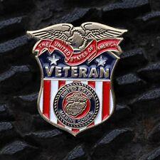 MARINE CORPS  VETERAN OLD GLORY USA FLAG LAPEL BADGE PIN