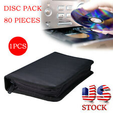 Retro 80 Sleeve CD DVD Blu Ray Disc Carry Case Holder Storage Ring Binder Bag