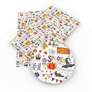 """HALLOWEEN FAUX LEATHER SHEET 8"""" X 13"""" 20X34CM WHOLESALE PRINTED A4"""