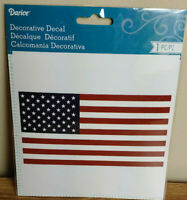 "Darice American Flag Decal 6"" x 6"" Set of 5 Decals"