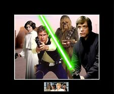 "Star Wars 4 Rebels Han,Luke,Leia,Chewbacca 8""x10"" Picture-11""x14"" Blk. Matted"