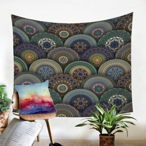 Mandala Floral Hippie Wall Tapestry Hanging Throw Cover Home Room Decoration